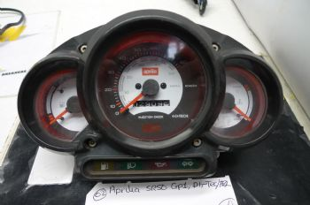 APRILIA SR50 GP1 DI-TECH  INSTRUMENTS CLOCKS 2909 MILES #2 (CON-A)
